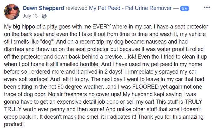 <a href='https://www.mypetpeed.com/review_groups/car/'>Car</a>, <a href='https://www.mypetpeed.com/review_groups/carpet/'>Carpet</a>, <a href='https://www.mypetpeed.com/review_groups/dog/'>Dog</a>, <a href='https://www.mypetpeed.com/review_groups/easy-to-use/'>Easy to use</a>, <a href='https://www.mypetpeed.com/review_groups/joe/'>Joe</a>, <a href='https://www.mypetpeed.com/review_groups/odor/'>Odor</a>, <a href='https://www.mypetpeed.com/review_groups/vomit/'>Vomit</a>