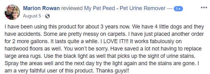<a href='https://www.mypetpeed.com/review_groups/dog/'>Dog</a>, <a href='https://www.mypetpeed.com/review_groups/easy-to-use/'>Easy to use</a>, <a href='https://www.mypetpeed.com/review_groups/hardwood-floors/'>Hardwood Floors</a>, <a href='https://www.mypetpeed.com/review_groups/joe/'>Joe</a>, <a href='https://www.mypetpeed.com/review_groups/rug/'>Rug</a>, <a href='https://www.mypetpeed.com/review_groups/stains/'>Stains</a>, <a href='https://www.mypetpeed.com/review_groups/urine/'>Urine</a>
