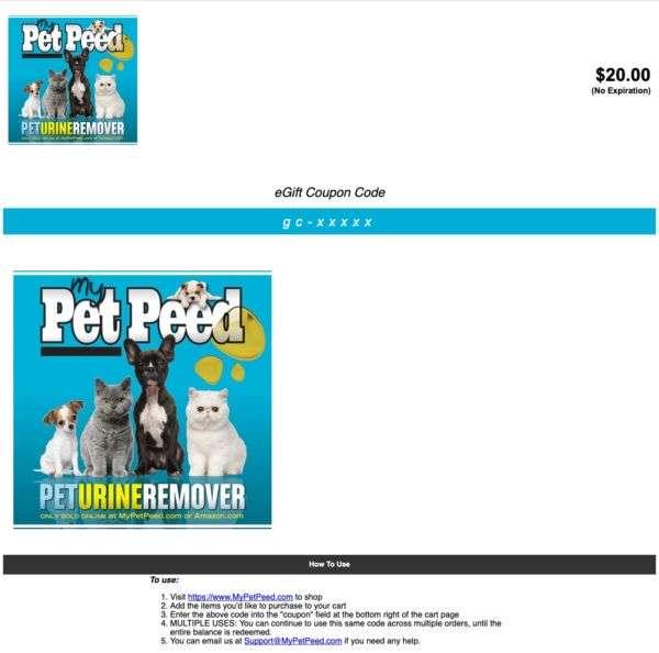 my pet peed coupon